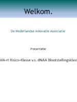 SMA-rt Risico-Klasse v.s. dNAA Blootstellingsklasse